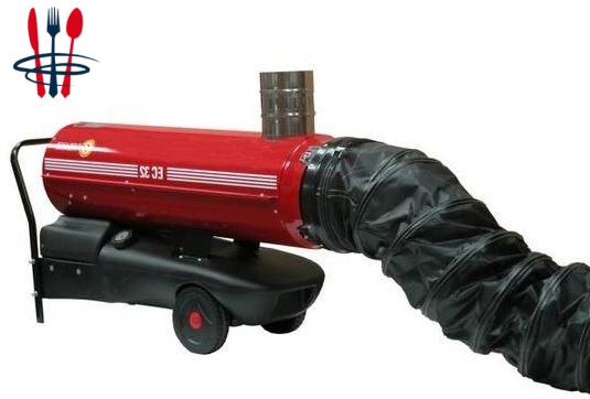 Chauffage mobile air pulsé sovelor EC32