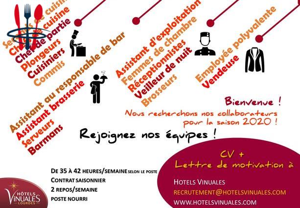 Cdd saisonnier - serveur/se, barman/maid (H/F)