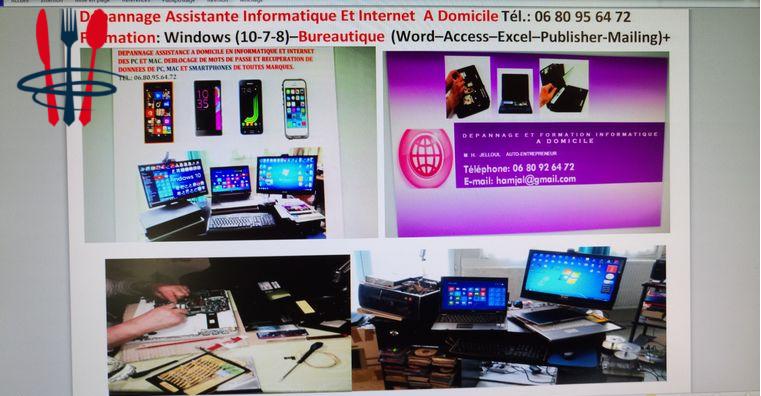 Dépannage Aide Informatique à Domicile 95-V. D'Oise 7j/7 09h-19h