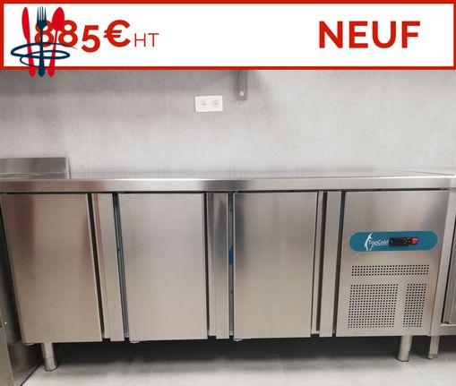 NEUF: Table de travail réfrigérée inox 2 3 4 portes