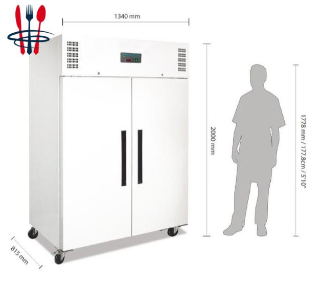 Armoire réfrigérée 1200 L - Acier blanc - Froid positif – NEUF