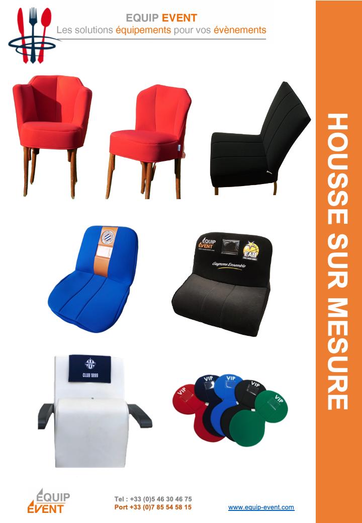 Housse de chaise sur mesure personnalisable