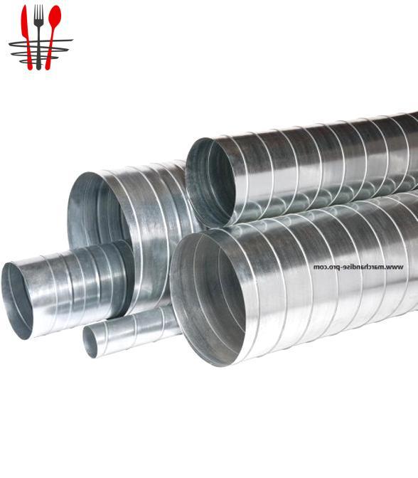 Gaine ventilation galva rigide conduit