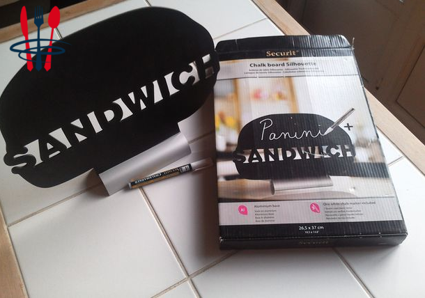 Affiche support sandwich neuf + 1 feutre