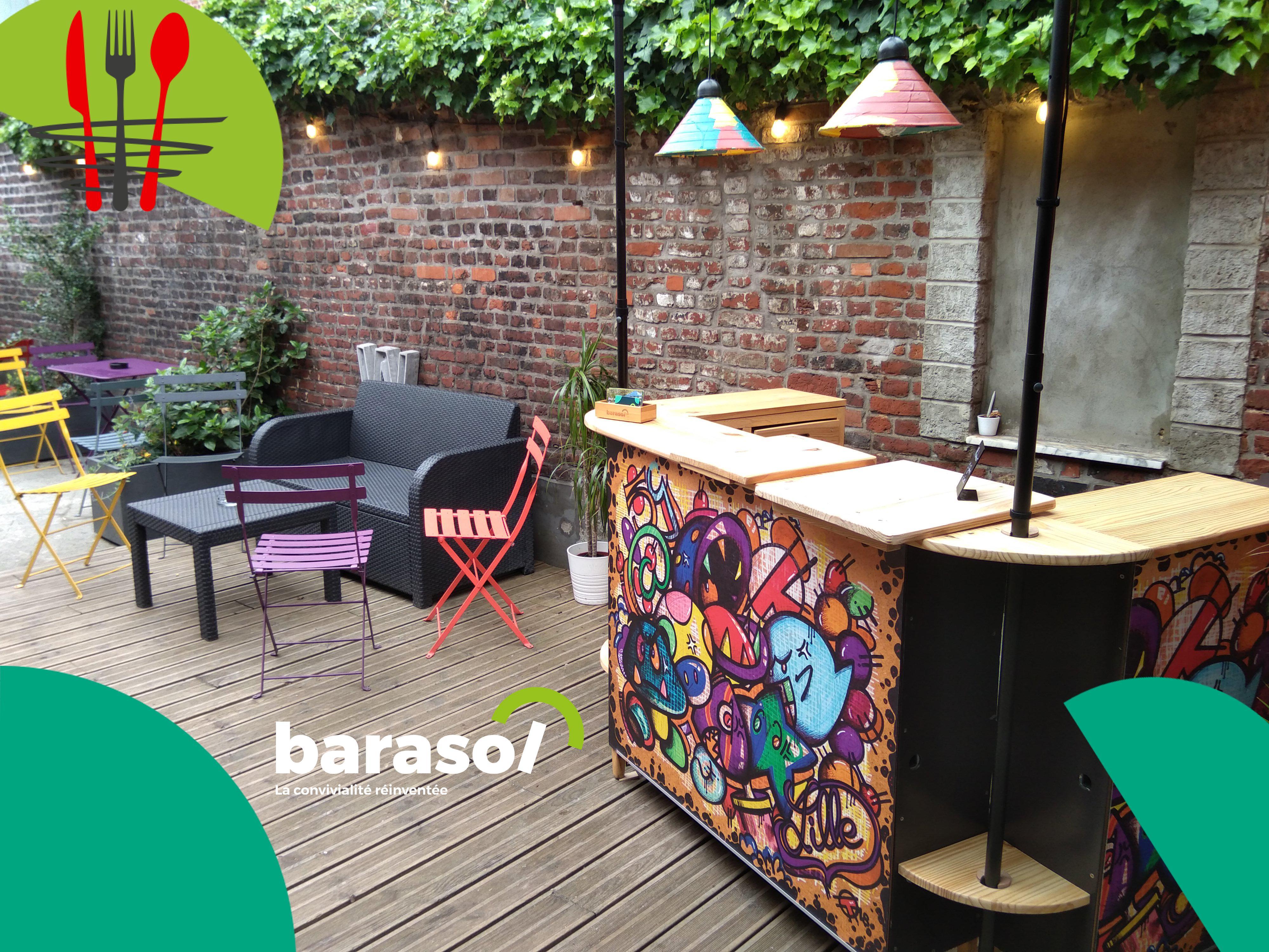 Le Barasol : bar mobile personnalisable
