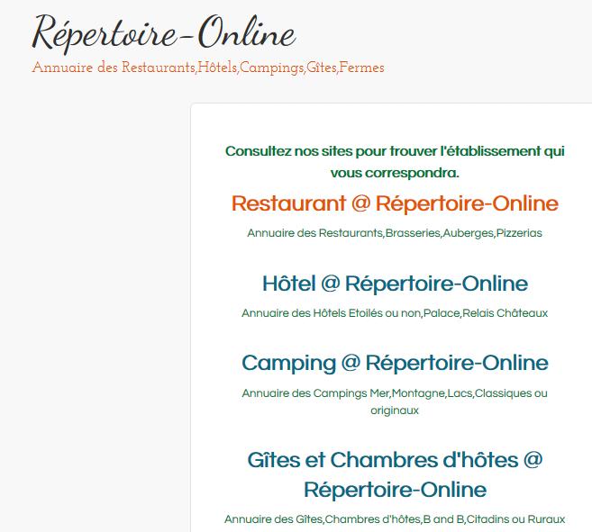 Rejoignez les 12.000 inscrits de nos Annuaires Internet !