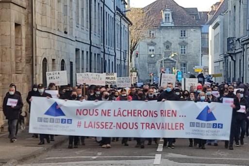 Hôtellerie-restauration ont manifesté à Angers
