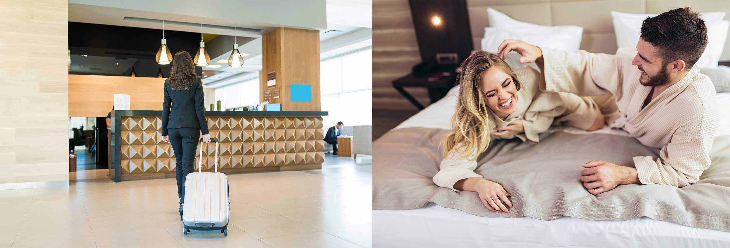 Accueil, chambre hotel